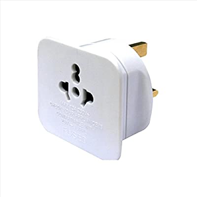 masterplug UK to EU Plug Adapter Converter with 2.1 A USB Charger