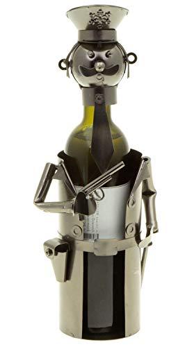 hLine Flaschenhalter Polizist Wein Geschenk Flaschenmännchen Polizei