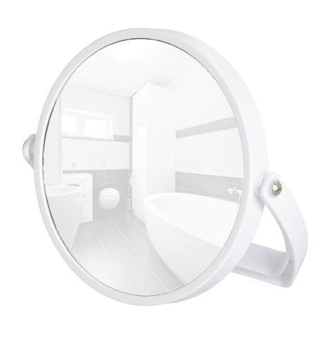 Wenko 3656510100 Kosmetikspiegel Noale Weiß - neigbar, Spiegelfläche ø 15cm, 500% Vergrößerung,...