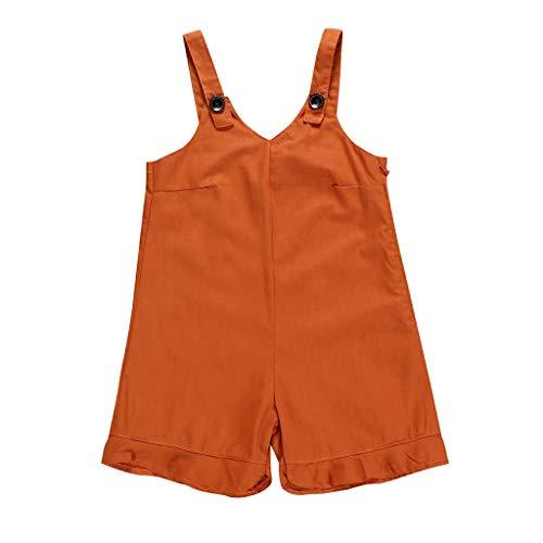 JERFER Jumpsuit Infant Boy Backless Solid Straps Strampler Bodysuit Outfits