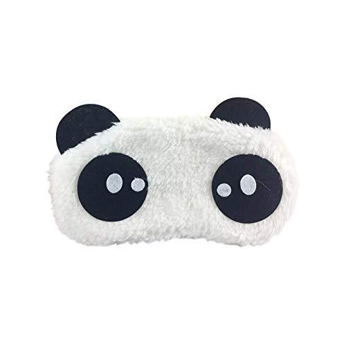 msyou Soft Eye Maske Cute Cartoon Panda Form Schlafmaske Verstellbare Schlafmaske Augen Cover für Home Office Travel (weiß)