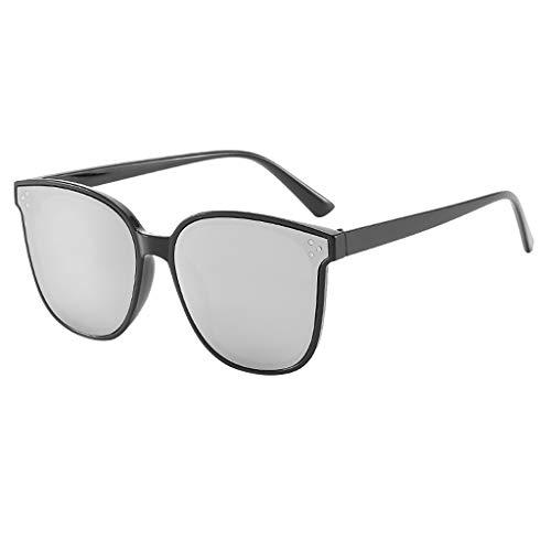 Trisee ✔ Sonnenbrille, PersöNlichkeit Sonnenbrille Herren Sonnenbrille Damen Polarisiert Brille Ohne SehstäRke Blaulichtfilter Brille Mode Retro Sonnenbrille - GroßEr Rahme Ultra Light UV-Schutz