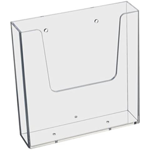DIN A5(148x 210mm), soporte de pared para folletos (verticales, transparente