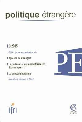 Politique trangre, N 3, 2005 :