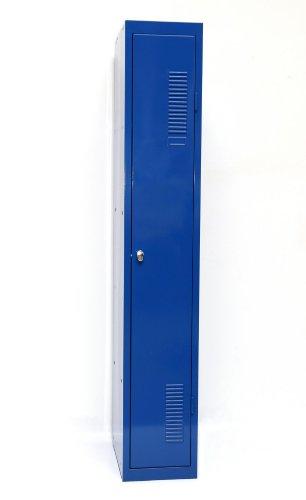 SPIND-1 (Grund) 180x30 cm, 1 Boden, Vorhängeschloss, (RAL5010) blau (Kleiderspind Garderobenschrank...