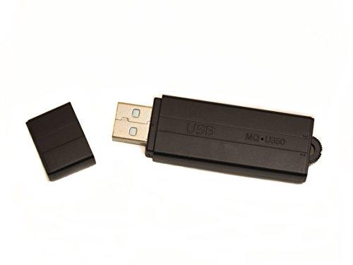 MQ-U350DE V8 anthrazit - USB-Stick Diktiergerät mit Aufnahmeaktivierung durch Geräusche oder Daueraufnahme. Bis zu 25 Tage lang Standby , USB Stick 8GB