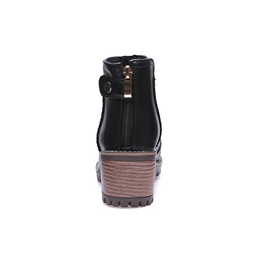 insieme in versatile gran ZQ inverno stivali tacchi spessore nudo di numero scarpe a studenti e impermeabile di QXIn con i autunno Taiwan dello con testa alti e un Black stivali tonda di Donna qHrwtRHxg