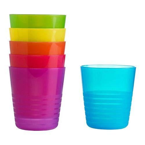 Ikea 101.929.56 FBA_13764 Trinkbecher plastik 8 Fluid_Ounces, verschiedene Farben