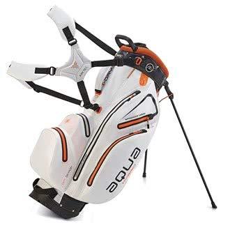 BIG MAX AQUA Hybrid Golf Stand & Cartbag 2018 - 100% Wasserdicht (White/Black/Orange)