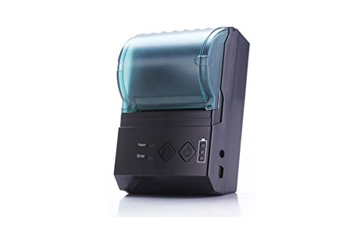Neue Version V2! Tragbarer Bluetooth Thermodrucker für 58mm Rolle inkl. Gürteltasche! (Bondrucker POS Drucker Wireless Kassendrucker Drucker Thermo Quittungsdrucker Thermal Dot Receipt Printer)