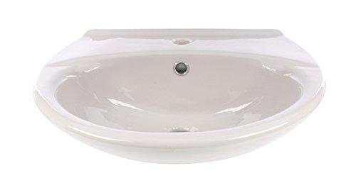 Waschtisch | 55 cm | Manhattan | Grau | Waschbecken | Waschplatz | Bad | Badezimmer | Gäste-WC | Keramik | Mit Überlaufschutz
