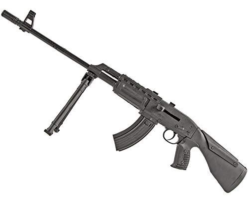 (Nick and Ben Soft-Air Sniper-Gewehr 67cm bis 0.5 Joule Kaliber 6mm Munition Air-Soft Spielzeug Zweibein Schwarz Waffe)