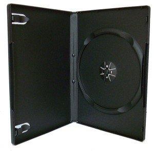 Vision Media 10 x Single Black DVD/CD Case -14mm Spine