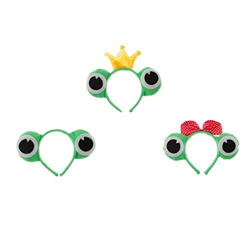 Imagen de sharplace 3 pcs de disfraces adulto chicos diseño sapo animales diadema de cabeza de estilo rana mono