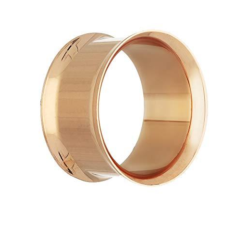 Kupfer Flare (Treuheld Flesh Tunnel - Stahl - Double Flare - Rosegold 14 mm)