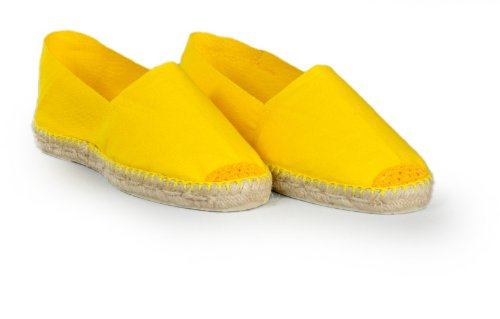 Espadrille homme jaune - fabrication artisanale made in pays basque france Jaune