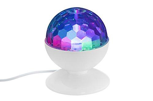 Briloner Leuchten LED Tischlampe mit bunten Disco-Lichteffekten, besonderes Party Zubehör mit RGB Farbwechsel, Kinder Disco-Kugel,...