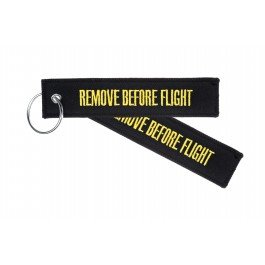 Llavero - ' REMOVE BEFORE FLIGHT ' - *** Edición NEGRO (Black Beauty) ***