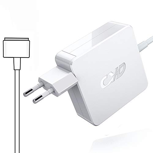 QYD 60W Notebook Ersatz Netzteil für magsafe 2 Magnetic T Tip Ladegerät MacBook Pro 13-inch Retina Display MD212 MD213 MD662 ME865 ME866 MGX72 MF840 7.87ft Laptop Ladekabel Power Ac Adapter Cord Kable