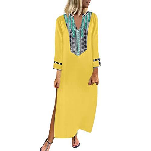 Damen Sommerkleid Lang Elegant Schick Große Größen Ärmellose Maxikleid Schmetterling Muster Casual Cool Leichte Kleider Mit Tasche -