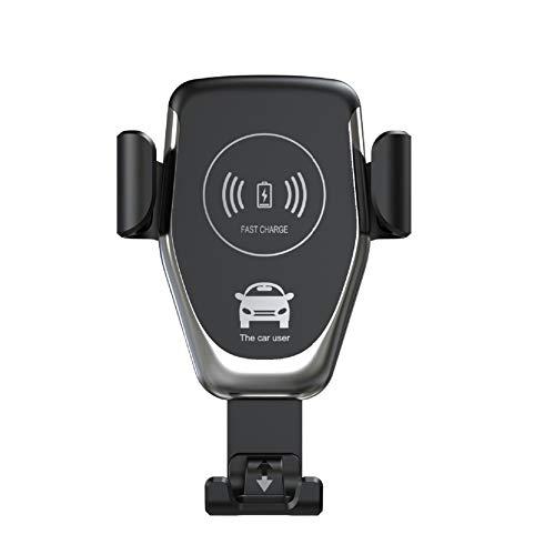 Ingrirt5Dulles Supporto per Presa d'Aria del Telefono per Caricabatterie da Auto Wireless 15W per iPhone Samsung Huawei Black