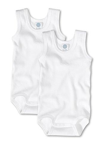 Sanetta Träger-Baby-Body 2er-Pack 321859, white, 80