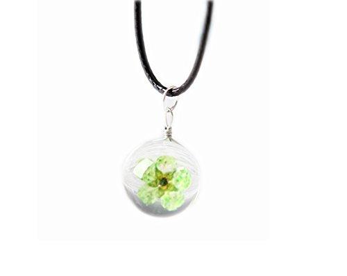 Set von 4 Anhänger Halskette Geschenke Getrocknete Blumen Halskette Pullover Kette Ornamente
