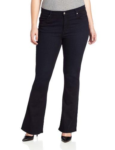 James Jeans Women's Plus-Size Juliet Z Trumpet Leg, Olefina, 16
