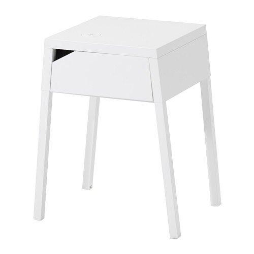 IKEA SELJE Ablagetisch mit Ladeöffnung in weiß; (46x37cm)