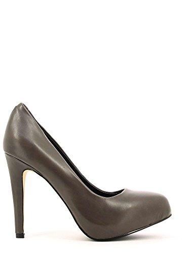 Decoltè CafèNoir per donna in pelle nera tacco 10cm