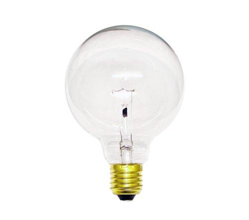 25w Klar Globe (Globe Glühbirne 25W E27 KLAR G95 95mm Globelampe 25 Watt Glühlampe Glühbirnen Glühlampen)