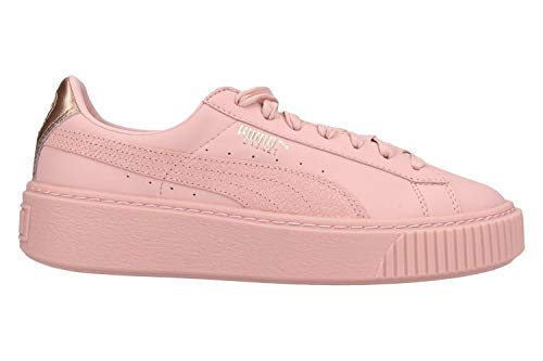 Puma Shoes Woman Low Sneakers with 366814 03 Basket Platform Euphoria Size 41 Pink Gold