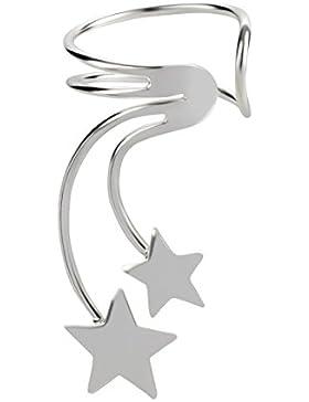 SL-Silver Ohrringe Ohrklemme Sterne aus 925 Silber in Geschenkbox