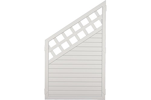 Sichtschutzzaun Kunststoff Gitter weiß 90 x 150/90 cm (Serie Juist)