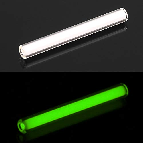 röhre - 1 Stück selbstleuchtende Outdoor-Notbeleuchtungsröhre Glow in The Dark - Grün, 3 mm * 22,5 mm ()