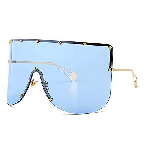 CCTYJ Sonnenbrillen Riesige Schwarze Sonnenbrille Schild Trendige Frauen Dekoration Sonnenbrille Maske Stil Sommerbrille