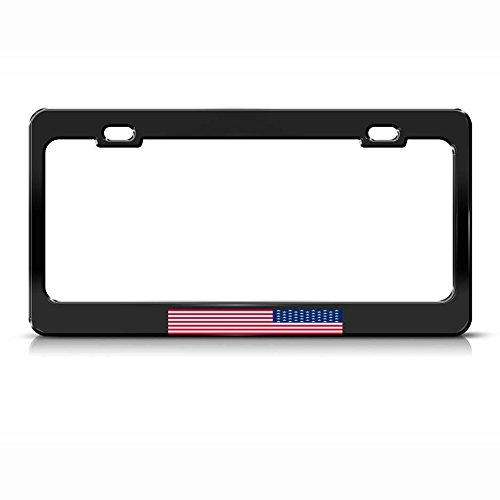 Moon Protest Republic Up Side Down American Flag Nummernschild Rahmen schwarz Tag perfekt für Männer Frauen Auto Garadge Decor
