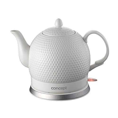 Design Krug (CONCEPT Hausgeräte Concept Golf RK0050 Elektrischer Wasserkocher Drahtlose Keramik Krug 3D-Golfball-Design 1.2L 1000 W, Ceramic, 1.2 liters)