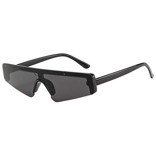 fazry Unisex-Sonnenbrille, quadratisch, Retro-Stil Gr. Einheitsgröße, Schwarz