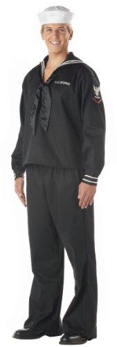 (ADULT MENS NAVY SAILOR UNIFORM FANCY DRESS COSTUME ALL SIZES MEN)