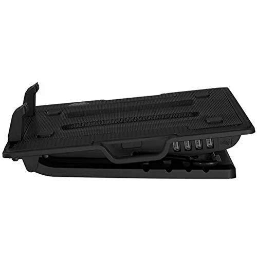 Notebookkühler 15,6-Zoll-140-mm-140-mm-Lüfterheizkörper, einstellbares, luftgekühltes Kühlkissen Kühlpads