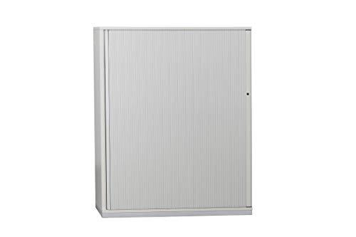 Steelcase Sideboard Aktenschrank Büroschrank Büroeinrichtung Mit Rolllade In Dekor Kristall 4OH Geprüft Und Gebraucht, 148,5x120x47cm (Zertifiziert und Generalüberholt)