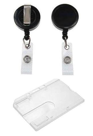 Medium Duty Retractable Reel Door Pass Holder With Enclosed Card Holder YoYo- (1)