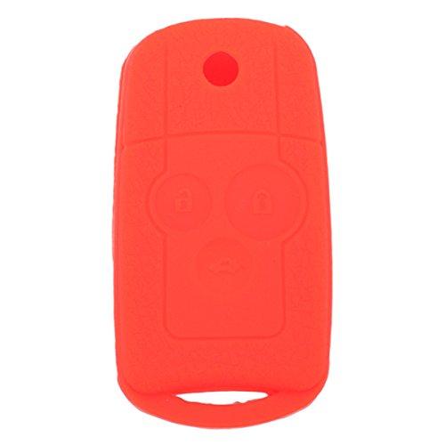 fassport Leder Textur Silikon Haut Jacke Fit für Honda Flip Fernbedienung Schlüssel - Accord Honda Remote 2013