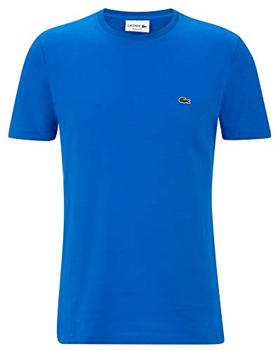 Lacoste TH2038 Herren T-Shirt Rundhals,Männer Basic Tshirt,Tee,Freizeit und Sport,Regular Fit,Baumwolle,Blue Royal(B9U), Large (5)