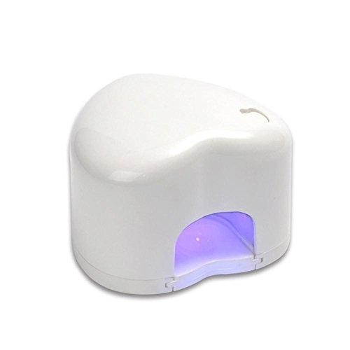 3W USB Mini Lampe à ongles Portable LED Séchoir Cœur Forme Singel Doigt pour Ongles DIY Gel polonais Art Guérir