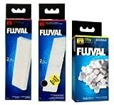 Original Fluval U3 Filter Set - Schaumstoff-Filtereinsatz , Poly-Aktivkohle-Filtereinsatz , Biomax 70g