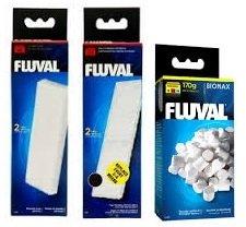 Fluval U3Set de filtre avec coussinets en mousse, cartouches en polycarbonate et Biomax70g
