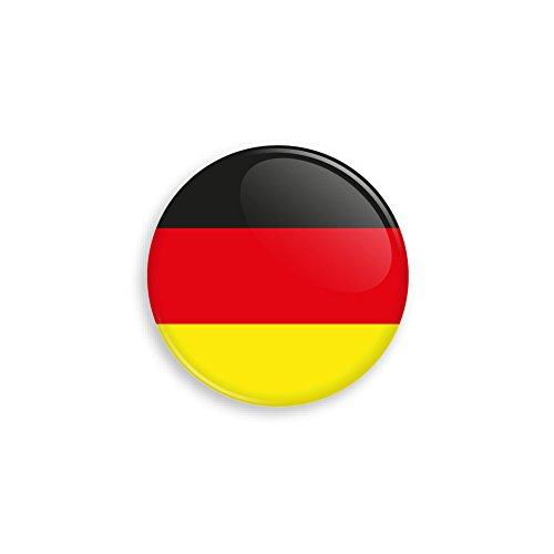 nd Flagge als Anstecker mit Nadel oder Magnet als Auswahl, 38 mm Durchmesser - Für Fußball WM, Themen Partys und Feiern oder als Geschenk - Nadel ()