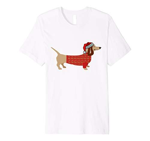 Dackel T-Shirt Teckel Dachshund Frohe Weihnachten Geschenk